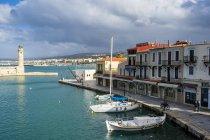 Greece, Crete, Rethymno, Venetian harbour — Stock Photo