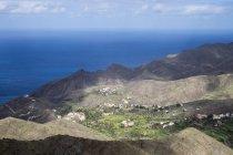 Іспанія, Канарські острови, Ла Гомера, Vallehermoso, подання до Alojera з гір вище — стокове фото
