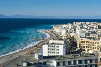 Greece, Rhodes, The new town at the coast — Stock Photo