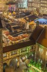Germany, Lower Saxony, Braunschweig, Christmas market in the evening — Stock Photo