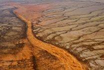 Stuoia di Stati Uniti, Wyoming, Yellowstone National Park, Grand Prismatic Spring, batteri arancione — Foto stock