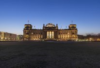 Germany, Berlin, Berlin-Tiergarten, Reichstag building in the morning — Stock Photo