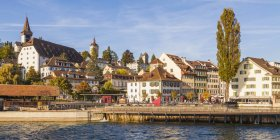 Switzerland, Canton of Lucerne, Lucerne, Old town, Musegg wall and Musegg towers, needle dam — Stock Photo