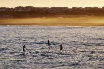 Paddel-Surfer im Martinhal Beach — Stockfoto