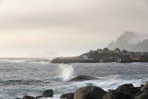 Norway, Lofoten, coast by Tind at daytime — Stock Photo