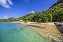 Карибського басейну, Антильські острови, меншою Антильські острови, Гренадіни, Союз острів, пляж — стокове фото