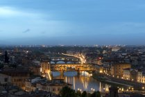 Italy, Florence, Palazzo Vecchio at the evening — Stock Photo