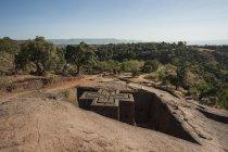 Ефіопія Лалібела, ставка Giyorgis церкви денний час — стокове фото