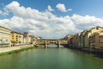 Italy, Florence, view to Ponte Vecchio during daytime — Stock Photo