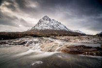 Шотландії, нагір'я, Buachaille Etive Mor гора — стокове фото