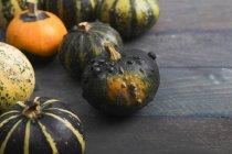 Fresh Ornamental pumpkins — Stock Photo