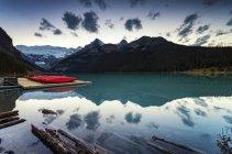 Canada, Alberta, Lake Louise at the twilight — Stock Photo