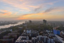 Vista panoramica al tramonto Amburgo, Germania — Foto stock