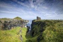 Regno Unito, Scozia, stoppino, Castello di vecchio stoppino sul mare del Nord — Foto stock