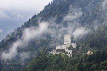 Château Zilkale Turquie, région de la mer Noire, dans la vallée de Firtina — Photo de stock