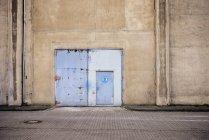 Germany, North Rhine-Westphalia, Neuss, door of a factory — Stock Photo