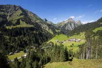 View of Hochtannberg Mountain Pass near Schroecken at daytime, Vorarlberg, Austria — Stock Photo