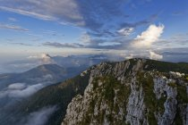 Austria, Upper Austria, Salzkammergut, view from Alberfeldkogel in Hoellen Mountains — Stock Photo