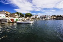 Spain, Mallorca, Porto Colom, View of harbour during daytime — Stock Photo