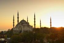 Moschea blu di Turchia, Istanbul, al tramonto — Foto stock