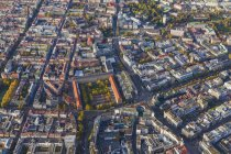 Germany, Baden-Wuerttemberg, Stuttgart, aerial view of city center — Stock Photo