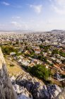 Scenic view of cityscape with Mount Lycabettus at daytime, Athens, Greece — Stock Photo