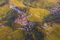 Germany, Baden-Wuerttemberg, Stuttgart, aerial view of burial chapel on Wuerttemberg — Stock Photo