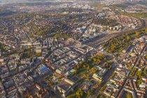 Germany, Baden-Wuerttemberg, Stuttgart, aerial view of city center — Stock Photo