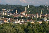 Allemagne, Baden-Wuerttemberg, Ravensburg, tours de ville dans la vieille ville — Photo de stock