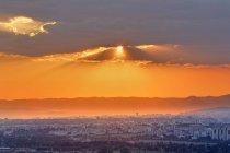 Turquie, Ankara, Coucher de soleil sur la ville — Photo de stock