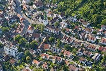 Germany, Baden-Wuerttemberg, Constance, aerial view of Wollmatingen — Stock Photo