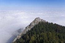 Allemagne, Bavière, Haute-Bavière, Chiemgau, Alpes de Chiemgau, Nussdorf am Inn, vue de la couverture Kindlwand et nuage — Photo de stock