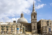 Malta, La Valletta, Basilica Nostra Signora del Monte Carmelo e la Pro-Cattedrale di San Paolo — Foto stock