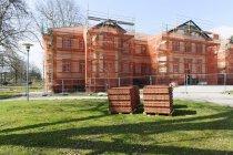 Deutschland, Baden-Württemberg, Emmendingen, Sanierung eines alten Gebäudes — Stockfoto