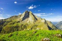 Germany, Bavaria, Allgaeu, Allgaeu Alps, View to mountian Hoefats  during daytime — Stock Photo