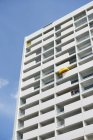 Part of facade of renovated multi-family house, Duesseldorf, North Rhine-Westphalia, Germany — Stock Photo