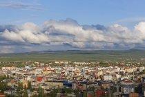 Туреччина, Карс провінції, Карс, вид на місто від Цитаделі — стокове фото