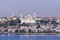 Türkei, Istanbul, Blick auf Sultan Ahmed Moschee — Stockfoto
