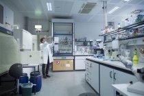 Interior of a biology laboratory — Stock Photo