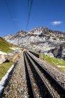 Швейцария, кантоне Ури, железнодорожный трек в городе Пасс — стоковое фото