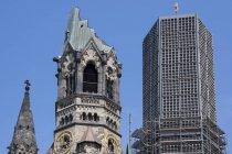 Deutschland, berlin, charlottenburg, kaiser wilhelm gedenkkirche unterseite — Stockfoto