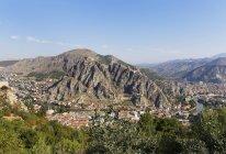 Turkey, Black Sea Region, Amasya, cityscape with castle — Stock Photo