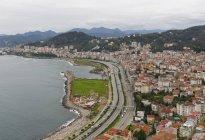 Turkey, Black Sea region, Black Sea coast, Black Sea, Giresun Province, Giresun, Highway at Black Sea coast — Stock Photo