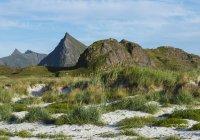 Норвегія, Nordland, прибуття, Flakstad, зустрічей на вищому рівні з Flakstadoya денний час — стокове фото