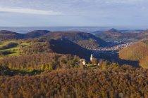 Deutschland, Baden-Württemberg, Luftbild von Schloss Lichtenstein — Stockfoto