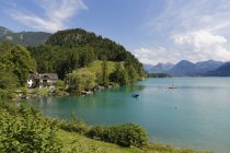 Austria, Salzkammergut, Salzburg State, Lake Wolfgangsee, Sankt Gilgen, Brunnwinkl — стокове фото