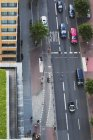 Germany, Berlin, main road with traffic at Berlin Mitte, bird's view — Stock Photo