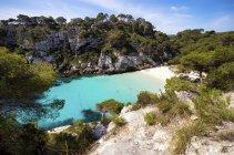Spanien, Balearen, Menorca, Makkarella, Cala macarelleta, Strand — Stockfoto