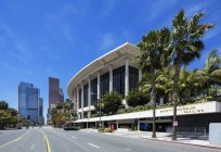USA, California, Los Angeles, Music Center, Grand Avenue and Dorothy Chandler Pavilion — Stock Photo
