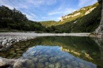 France, Rhone-Alpes, Ibie river at Gorges de l'Ardeche Nature Reserve — Stockfoto